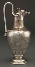 Silver Holloware, American:Ewers and Basins, A JOHN WENDT SILVER CLARET JUG . John R. Wendt & Co., New York,New York, circa 1870. Marks: BALL, BLACK & CO, NEW YORK,9...