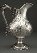 Silver Holloware, American:Pitchers, A HARRIS & SCHAFFER SILVER PITCHER . Harris & Schafer,Washington, D.C., circa 1880. Marks: HARRIS & SCHAFER CO.,STERLING...