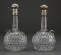 Silver Holloware, American:Other , A PAIR OF GORHAM CUT GLASS AND SILVER DECANTERS . GorhamManufacturing Co., Providence, Rhode Island, circa 1890. Marks:(li... (Total: 2 Items)