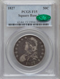 Bust Half Dollars: , 1827 50C Square Base 2 Fine 15 PCGS. CAC. PCGS Population(14/1721). NGC Census: (13/1835). Mintage: 5,493,400. Numismedia...