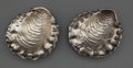 Silver Holloware, American:Other , A PAIR OF GORHAM SILVER NUT DISHES . Gorham Manufacturing Co.,Providence, Rhode Island, 1888. Marks: (lion-anchor-G), STE...(Total: 2 Items)