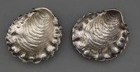 A PAIR OF GORHAM SILVER ALMOND DISHES Gorham Manufacturing Co., Providence, Rhode Island, 1888 Marks: (lion-an