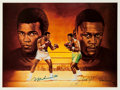 "Boxing Collectibles:Autographs, Muhammad Ali and Joe Frazier ""Ron Lewis"" Multi Signed Lithograph...."