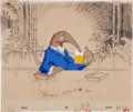 Animation Art:Limited Edition Cel, Anteater Animation Production Cel Set-Up with BackgroundLayout Drawing Original Art (undated).... (Total: 3 Original Art)