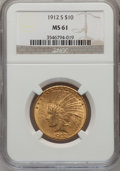 Indian Eagles, 1912-S $10 MS61 NGC....