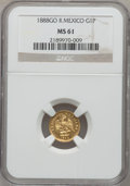 Mexico, Mexico: Republic gold Peso 1888Go-R,...