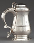 Silver Holloware, British:Holloware, A THOMAS WHIPHAM GEORGE II SILVER TANKARD . Thomas Whipham, London,England, circa 1752-1753. Marks: (lion passant) (leopard...