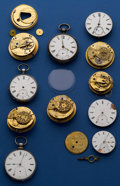 Timepieces:Other , Fusee & Key Wind Movement Lot. ... (Total: 11 Items)