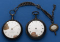 Timepieces:Pocket (pre 1900) , Two Pair Cased Verge Fusees For Parts. ... (Total: 2 Items)