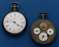 Timepieces:Pocket (pre 1900) , Three Dial Verge & Chinese Market Lever For Parts OrRestoration. ... (Total: 2 Items)
