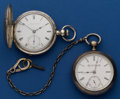 Timepieces:Pocket (pre 1900) , Two American Silver Key Winds. ... (Total: 2 Items)