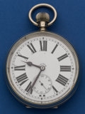 Timepieces:Pocket (post 1900), Swiss Oversize Eight Day Watch. ...