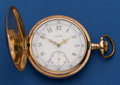 Timepieces:Pocket (post 1900), Elgin 16 Size Pocket Watch With A Fancy Dial. ...
