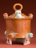 Antiques:Antiquities, Royal Maya Covered Tripod...
