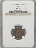 Bust Dimes, 1820 10C Small 0 VG10 NGC. JR-7. PCGS Population (2/25). NumismediaWsl. Price for problem free NGC/PCG...