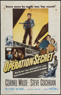 "Movie Posters:War, Operation Secret & Other Lot (Warner Brothers, 1952). OneSheets (2) (27"" X 41""). War.. ... (Total: 2 Items)"