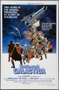 "Movie Posters:Science Fiction, Battlestar Galactica (Universal, 1978). One Sheet (27"" X 41"") &Lobby Card Set of 4 (11"" X 14""). Science Fiction.. ... (Total: 5Items)"