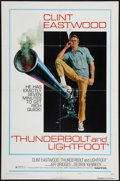 "Movie Posters:Crime, Thunderbolt and Lightfoot (United Artists, 1974). One Sheet (27"" X41"") Style C and Lobby Cards (7) (11"" X 14""). Crime.. ... (Total: 8Items)"