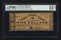 Obsoletes By State:Arkansas, Magnolia, AR- Columbia Exchange Company $5 Oct. 15, 1862 Rothert 466-5 UNL. ...