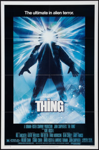 """The Thing (Universal, 1982). One Sheet (27"""" X 41"""") & Lobby Cards (3) (11"""" X 14""""). Horror. ... (T..."""