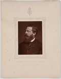 Antiques:Posters & Prints, Lot of 8 Antique Photographic Portraits of English Men of Mark....