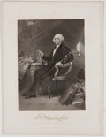 Antiques:Posters & Prints, Lot of 9 National Gallery Portraits of Eminent Americans Including George Washington....