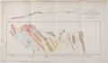 Antiques:Posters & Prints, Lot of 9 Vintage Tables Featuring California Geological Plans....
