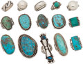 American Indian Art:Jewelry and Silverwork, FIFTEEN NAVAJO SILVER RINGS. c. 1940 - 1960... (Total: 15 Items)