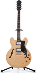 Musical Instruments:Electric Guitars, Epiphone 335 Dot Natural Semi-Hollow Body Electric Guitar#EE05109192...
