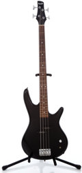 Musical Instruments:Bass Guitars, Ibanez Black Electric Bass Guitar, #Z 000200381....