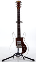 Musical Instruments:Electric Guitars, 1970's Univox Armstrong Lucite Clear Solid Body Electric Guitar ...