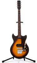 Musical Instruments:Electric Guitars, 1967 Epiphone Olympic Sunburst Solid Body Electric Guitar#000882...