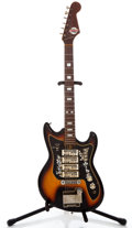 Musical Instruments:Electric Guitars, 1960's Teisco ET-440 Sunburst Solid Body Electric Guitar #622032...