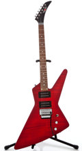 Musical Instruments:Electric Guitars, Epiphone Explorer Red Solid Body Electric Guitar #001080056...