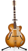 Musical Instruments:Electric Guitars, 1960's Hofner Honey Burst Semi-Hollow Body Electric Guitar ...