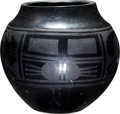 American Indian Art:Pottery, A SAN ILDEFONSO BLACKWARE JAR. Rosalie and Joe Aguilar...