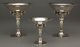 A GROUP OF THREE GEORG JENSEN SILVER COMPOTES Georg Jensen, Copenhagen, Denmark, circa 1945-1977 Marks: GEORG JENSEN...