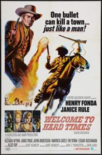 "Welcome to Hard Times (MGM, 1967). One Sheet (27"" X 41""). Western"