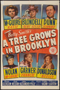 "Movie Posters:Drama, A Tree Grows in Brooklyn (20th Century Fox, 1945). One Sheet (27"" X41""). Drama.. ..."