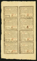 Colonial Notes:Rhode Island, Rhode Island July 2, 1780 Half Sheet of Eight Gem New.. ...