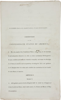 [Civil War] Constitution of the Confederate States of America