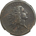 Large Cents, 1793 1C Wreath Cent, Lettered Edge -- Corrosion -- NGC Details. VF.S-11c, B-16c, Low R.3....