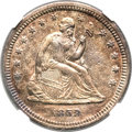 Seated Quarters, 1859-S 25C -- Environmental Damage, Cleaned -- NGC Details. AU....