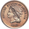 Patterns, 1867 5C Five Cents, Judd-564, Pollock-625, High R.7, Genuine PCGS. Proof....
