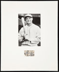 Baseball Collectibles:Photos, Jimmie Foxx Signed Cut Signature Display....