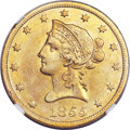 Liberty Eagles, 1855-S $10 -- Improperly Cleaned -- NGC Details. AU....