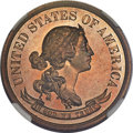 Patterns, 1870 50C Standard Silver Half Dollar, Judd-959, Pollock-1110, R.7,PR66 Red and Brown NGC....
