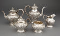 Silver Holloware, American:Tea Sets, A KIRK FIVE-PIECE SILVER TEA AND COFFEE SERVICE . S. Kirk & SonInc., Baltimore, Maryland, circa 1924. Marks: S. KIRK &SO... (Total: 5 Items)