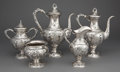 Silver & Vertu:Hollowware, A BALTIMORE FIVE-PIECE SILVER TEA AND COFFEE SERVICE . Baltimore Silver Co., Baltimore, Maryland, circa 1903-1905. Marks: (... (Total: 6 Items)