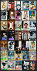 Autographs:Sports Cards, Baseball Stars Signed And Game Used Card Collection Lot Of 35....